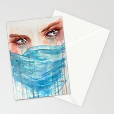 Forgotten, watercolor painting Stationery Cards