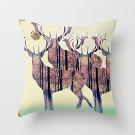 Fine Stags Throw Pillow