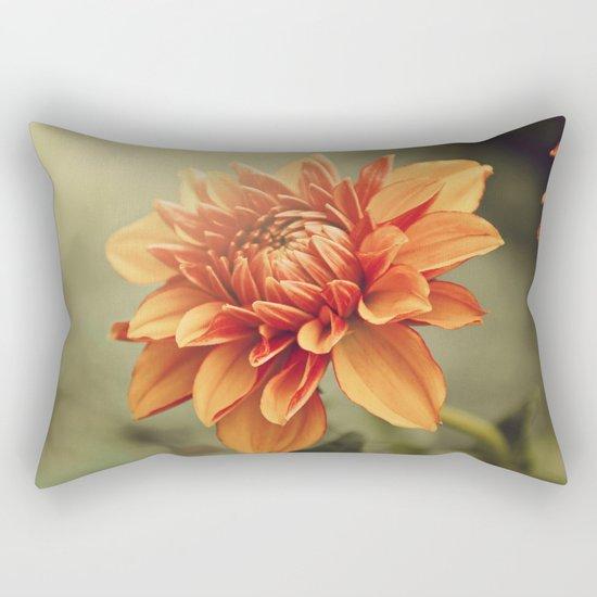 Orange Dahlia #2 * Garden Flowers Floral Blossom Nature Rectangular Pillow