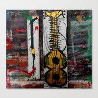 reggae Canvas Prints featuring reggae four by songs for seba
