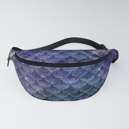 Mermaid Scales Ombre Glitter 3 Fanny Pack