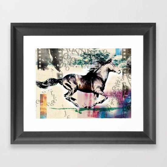 horse 01 Framed Art Print