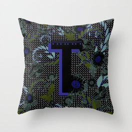 Alphabet Letter T Throw Pillow