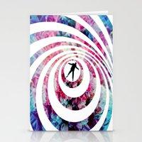 vertigo Stationery Cards featuring VERTIGO by Tia Hank