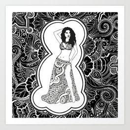 Henna Dancer  Art Print