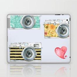 Five Vintage Cameras in Watercolor Laptop & iPad Skin