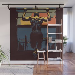 Pull ups at the gym - crossfit Wall Mural