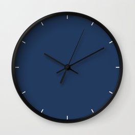 Navy Peony | Pantone Fashion Color Fall : Winter 2017 | Solid Color Wall Clock