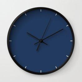 Navy Peony | Pantone Fashion Color Fall : Winter 2017 | New York | Solid Color | Wall Clock