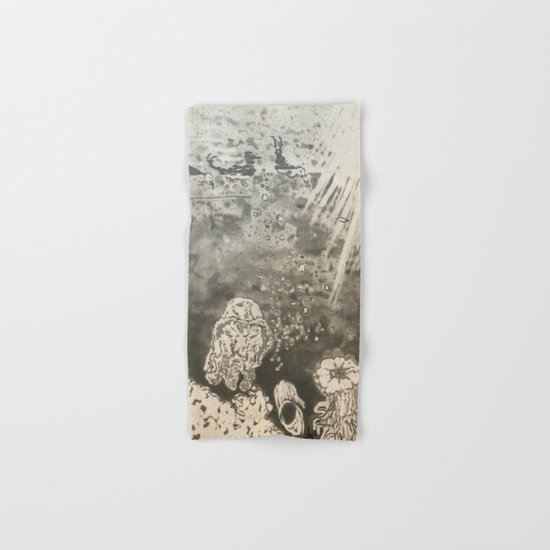 MoonSea EcoSystem Black and White Hand & Bath Towel