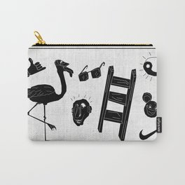 ☯  ~ • ✈ ♈ ☼ ♫ ☥ • ~  ☯ Carry-All Pouch