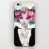 moth iPhone & iPod Skins featuring Moth by Yoalys
