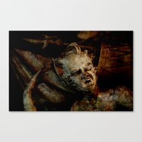 scary Canvas Prints featuring Scary by LoRo  Art & Pictures