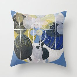 """Hilma Af Klint """"The Large Figure Paintings, No. 5, Group III, The Key to All Works to Date, The WU/R Throw Pillow"""