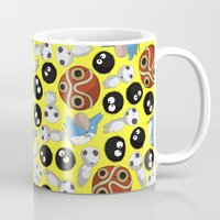 ghibli Mugs featuring Ghibli Pattern by pkarnold + The Cult Print Shop
