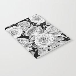 ROSES ON DARK BACKGROUND Notebook