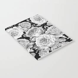 ROSES ON DARK BACKGROUND Notebook