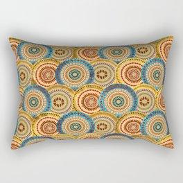 Circular Ethnic  pattern Rectangular Pillow