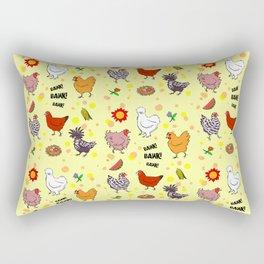 Cute seamless chickens pattern cartoon Rectangular Pillow
