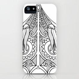 Huia Maori Art Kowhai Flower iPhone Case