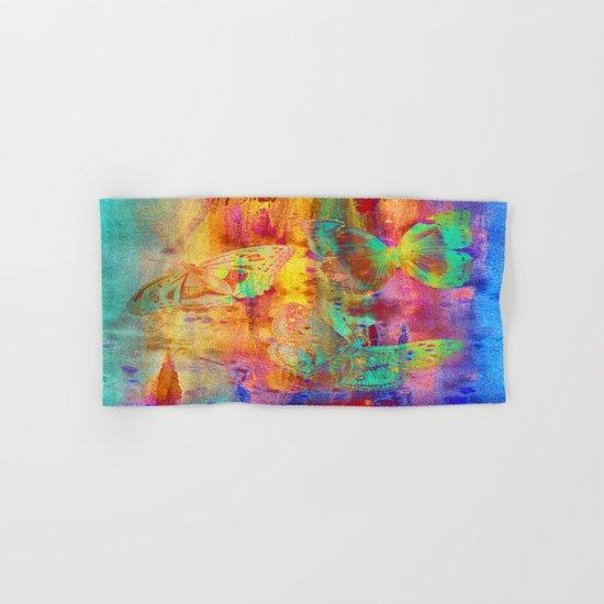 Colorful Butterfles Q Hand & Bath Towel