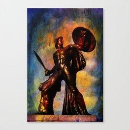 Statue of Achilles in London Hyde Park. Canvas Print