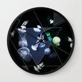 Jellyfish Triangles Wall Clock