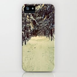 Wintery Snowshoe Hike iPhone Case