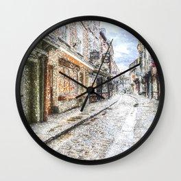 The Shambles York Snow Art Wall Clock