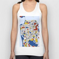san francisco Tank Tops featuring San Francisco by Mondrian Maps
