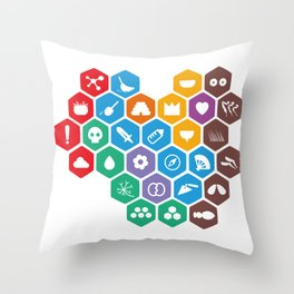 Periodic Table of Beekeeping Throw Pillow