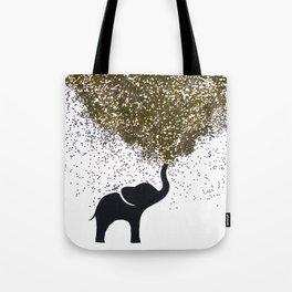 elephant w/ glitter Tote Bag
