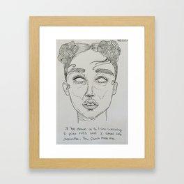 FKA Twigs ink Framed Art Print