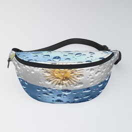 Flag of Argentina - Raindrops Fanny Pack