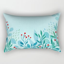 blue-green Rectangular Pillow