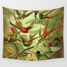 HUMMINGBIRD COLLAGE- Ernst Haeckel Wall Tapestry
