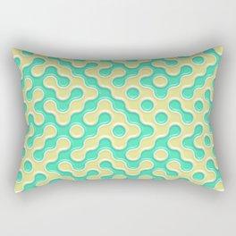 Yellow Deep Sea Green Truchet Tilling Pattern Rectangular Pillow