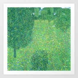 """Gustav Klimt """"Landscape Garden (Meadow in Flower)"""" Art Print"""