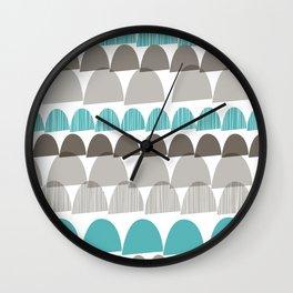 Shroom aqua Wall Clock