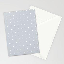 Dots - Grey White Polka Stationery Cards