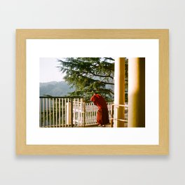 Pondering Monk Framed Art Print