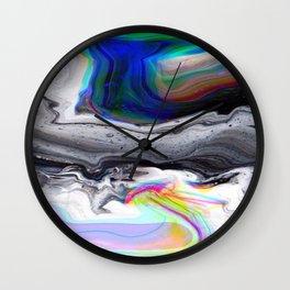 dark marble rainbow Wall Clock