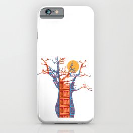 African Baobab tree of life at Sunset iPhone Case