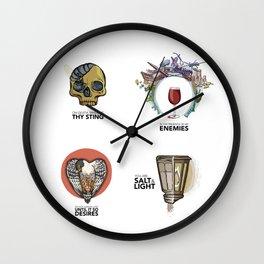 4 Biblical phrases Wall Clock