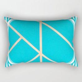 Leaf - circle/line graphic Rectangular Pillow