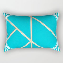 Leaf - circle/line graphic Rectangular Pillow
