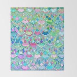 Art Deco Watercolor Patchwork Pattern 2 Throw Blanket