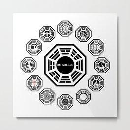 Lost Dharma Stations Metal Print