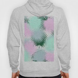 Rose Mint Tropical Leaves Hoody