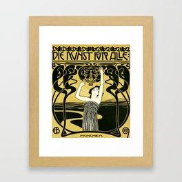 Art Nouveau Vintage Poster by Koloman Moser - Kunst fur Alle - Art for Everyone Framed Art Print